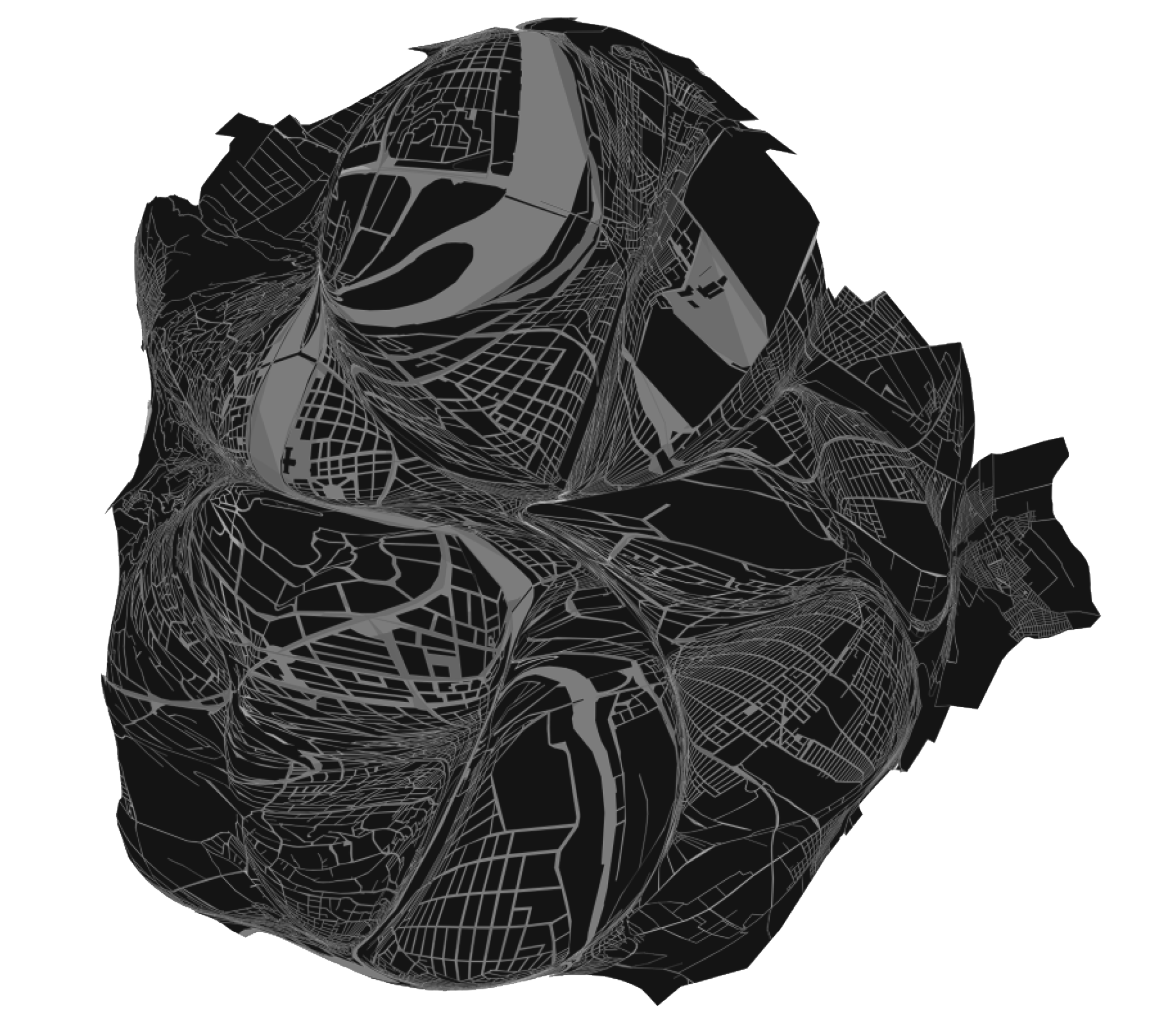 Sculptural drawing two. Submap exp png uranismo