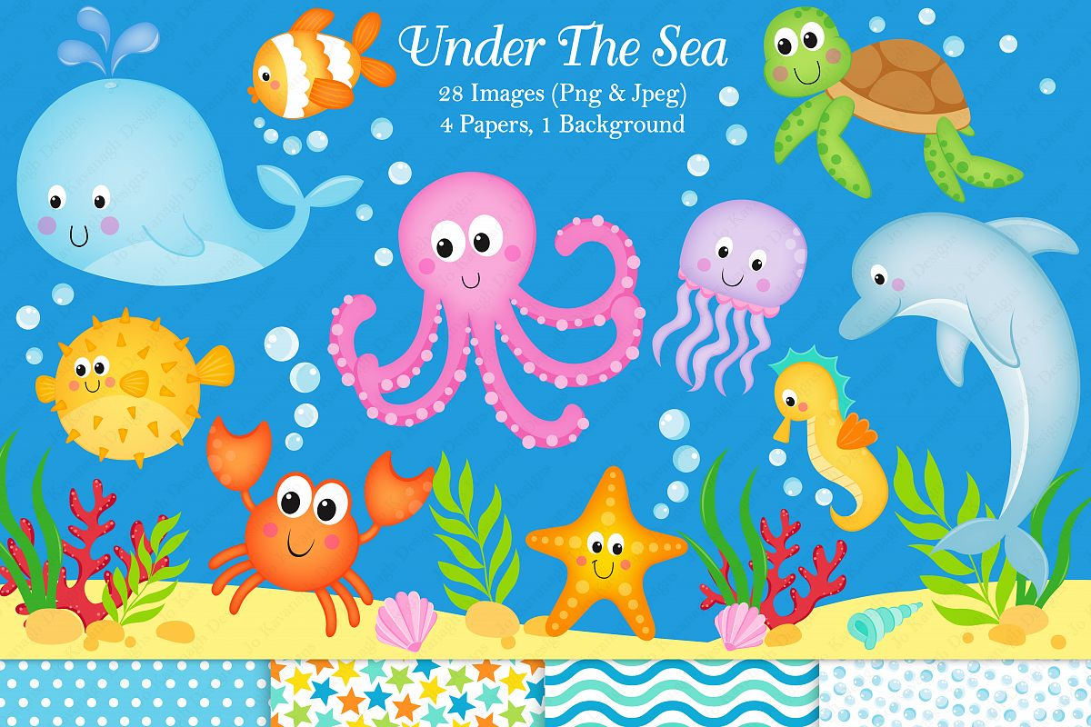 Sea clipart. Under the graphics illustrations