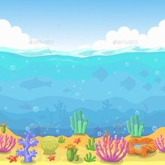 Sea clipart. Sandy floor in digital