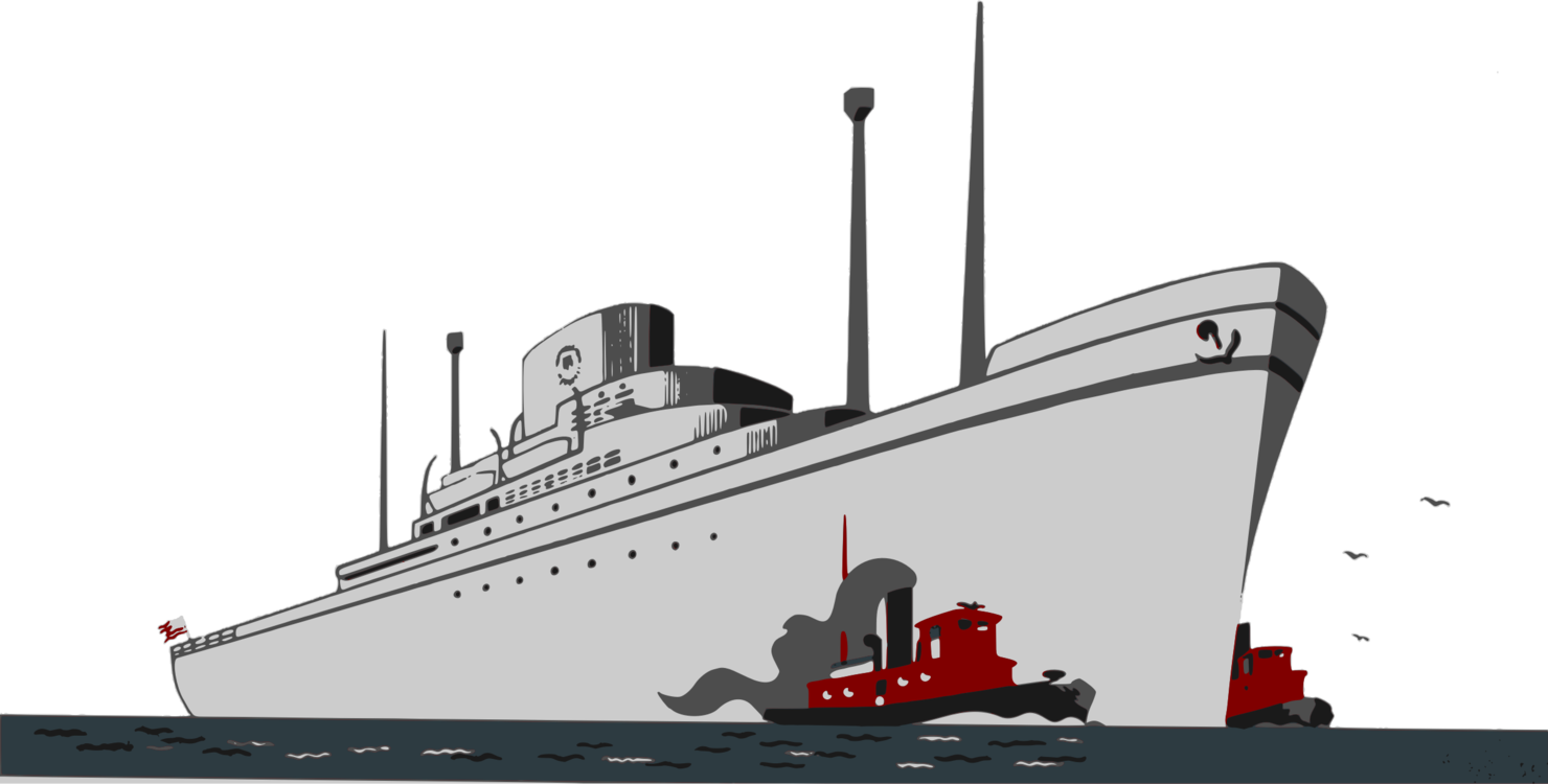Cruise drawing vector. Ship ocean liner boat
