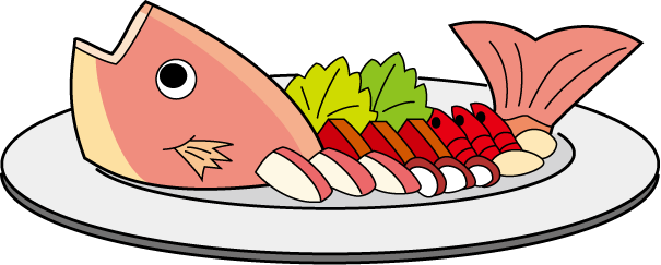 Seafood drawing grilled fish. Cooked clipart panda free
