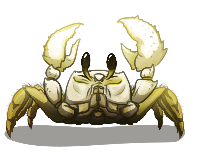 Seafood drawing ghost crab. By someday tokay on