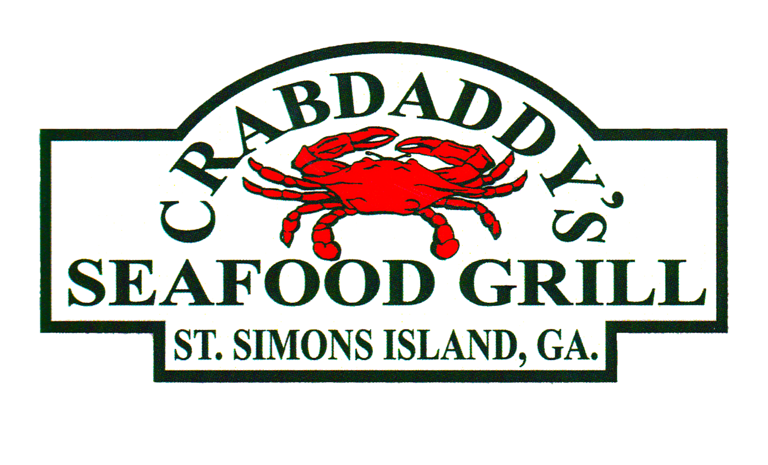 Seafood drawing grilled fish. Crabdaddy s grill