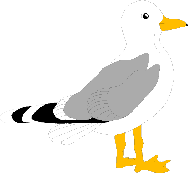 Clip art at clker. Seagull clipart vector free library