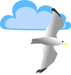 Seagull clipart. And cloud clip art
