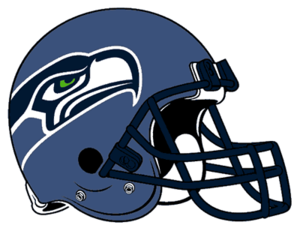 Seahawks vector helmet. Collection of drawing