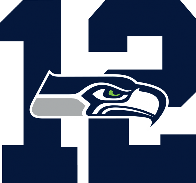 Seahawks vector silhouette. Collection of free ebbed