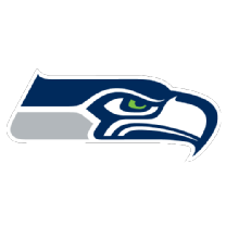 Seahawks vector simple. Black and white encode