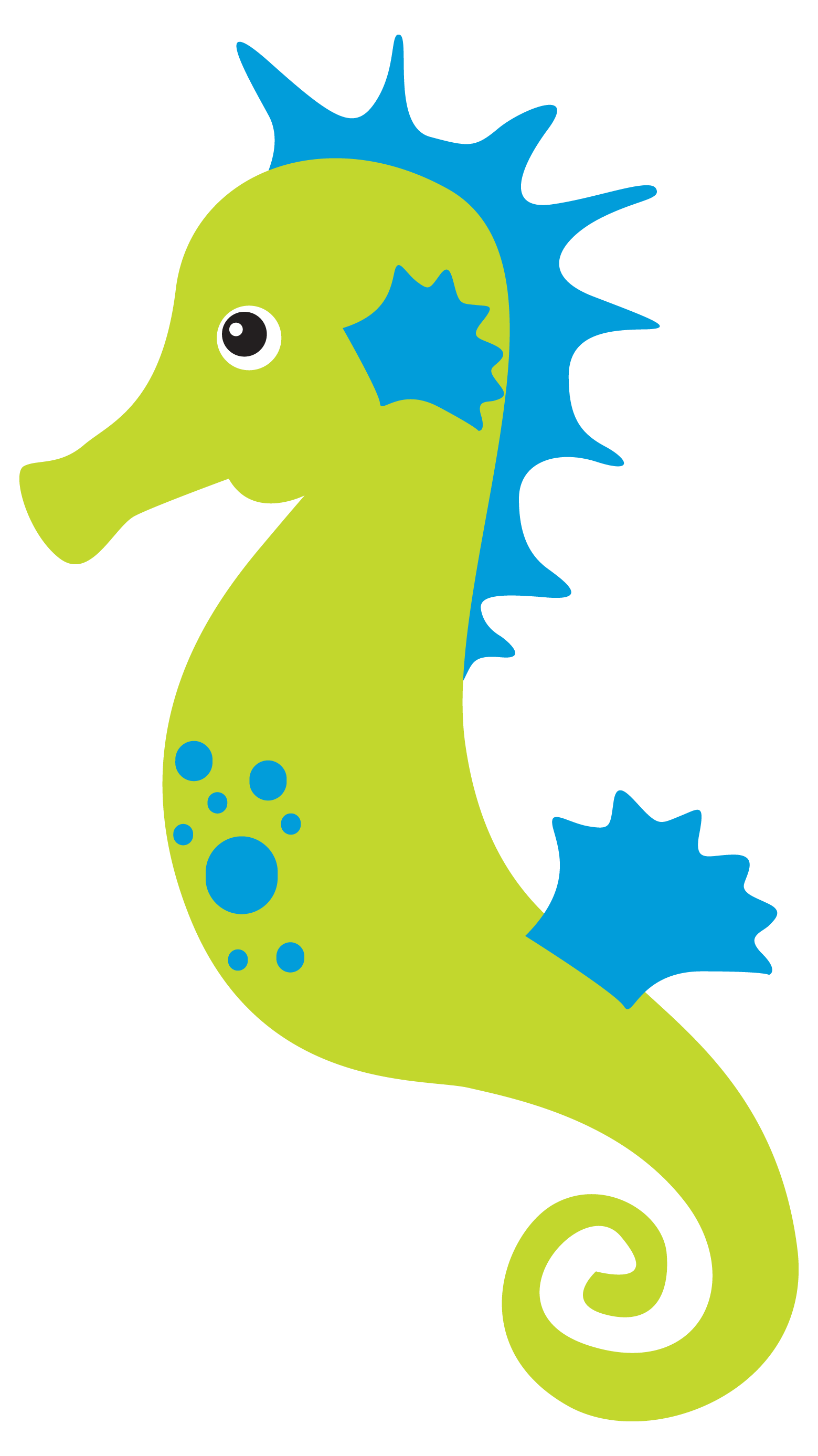 Ariel vector seahorse. Fundo do mar undersea