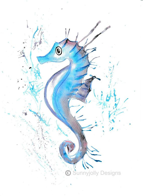 Seahorse clipart seaside. Shades by louise martindale