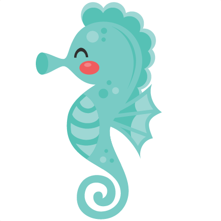 Ariel vector seahorse. Svg scrapbook cut file