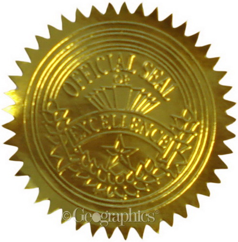 Seal clipart official seal. Of excellence