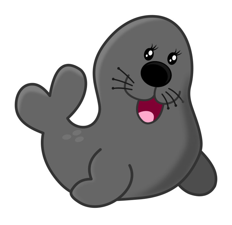 Manatee clipart. Seal by maw acuario