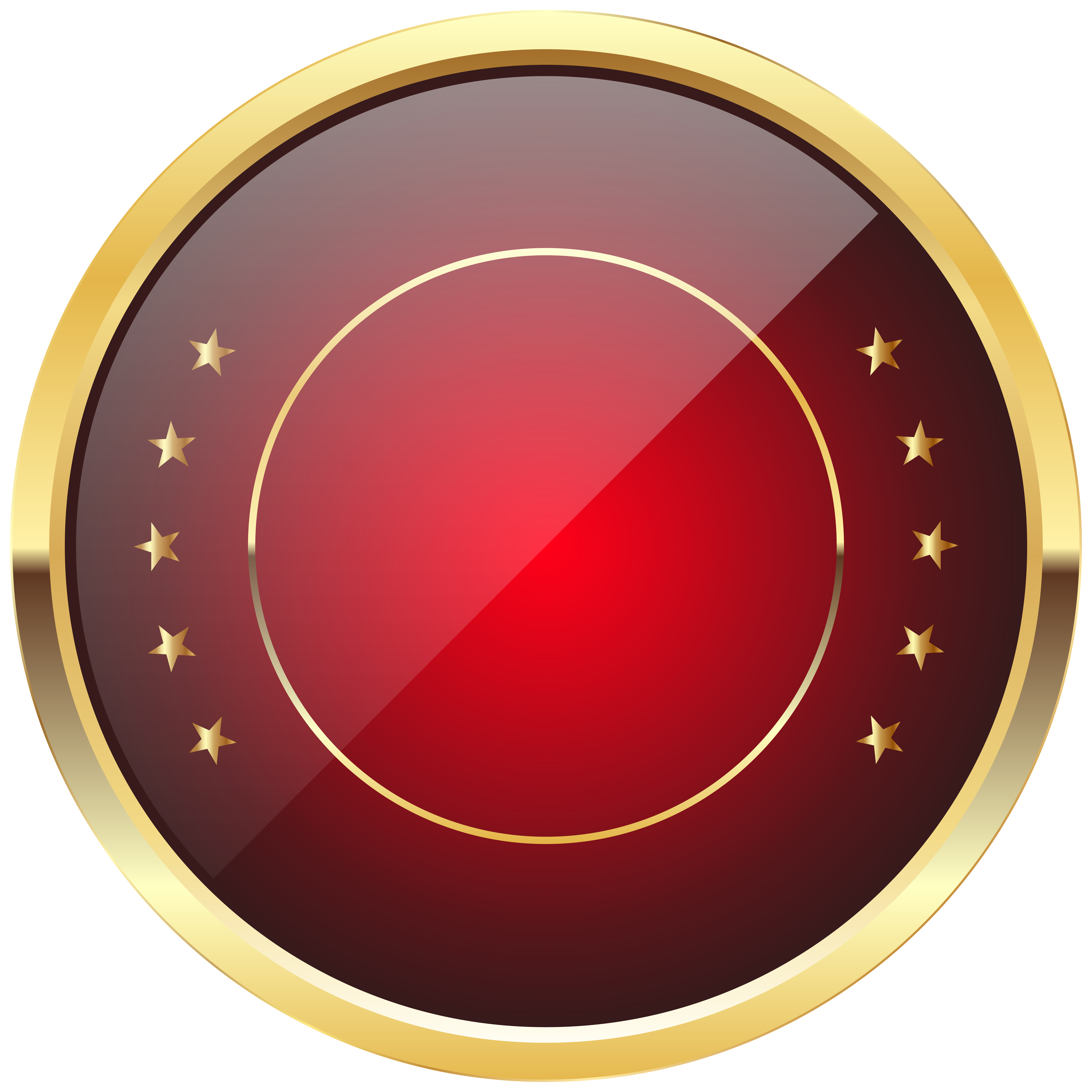 Red seal png. Badge template transparent clip