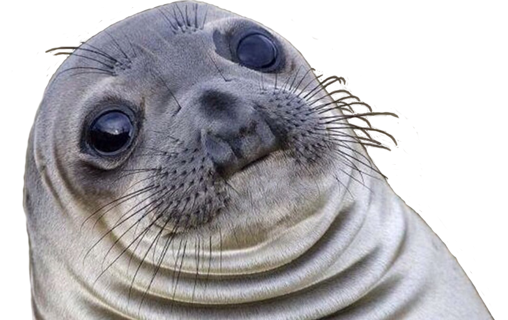 Seal transparent. Awkward cutout fixed cropped