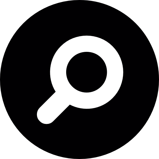 Search logo png. Magnifying glass button free