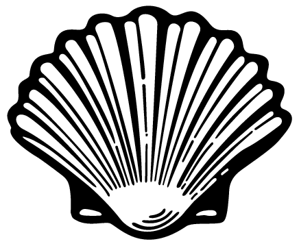 Oyster clipart. Sea shell silhouette at