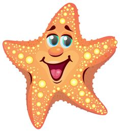Starfish clipart simple cartoon. Colorful seashell png ocean