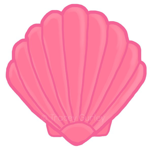 Seashell clipart. Cute  image library download