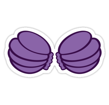 Seashells clipart shell ariel. Shells breasts stickers by