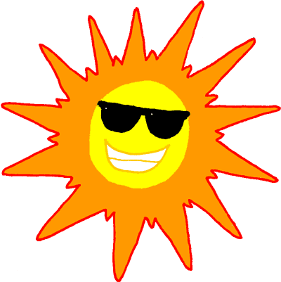 Transparent sunshine smiling. Free seasonal cliparts download