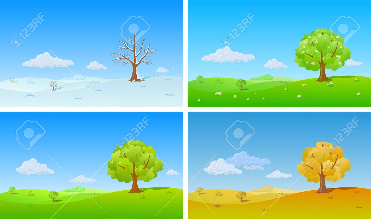 Season clipart background. Nature spring pencil and
