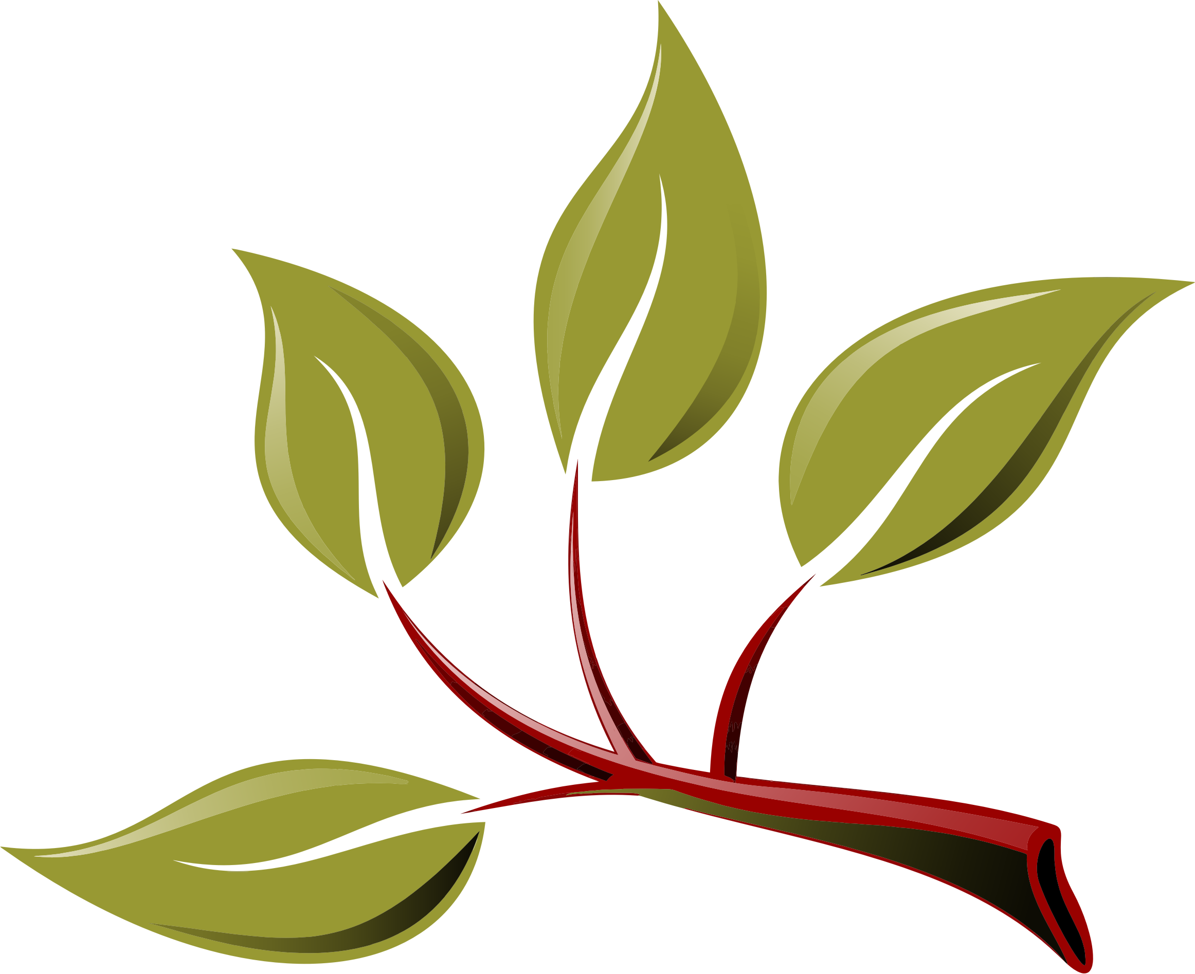 Season clipart branch. With leaves big image