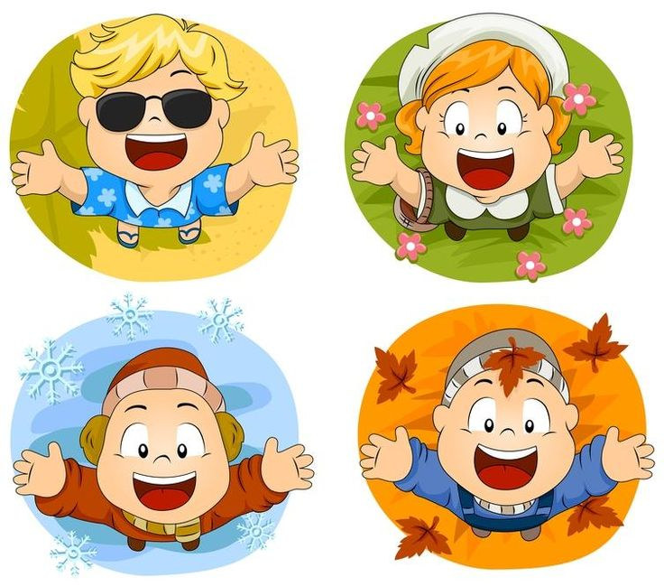 Season clipart kindergarten. Best vszakok images