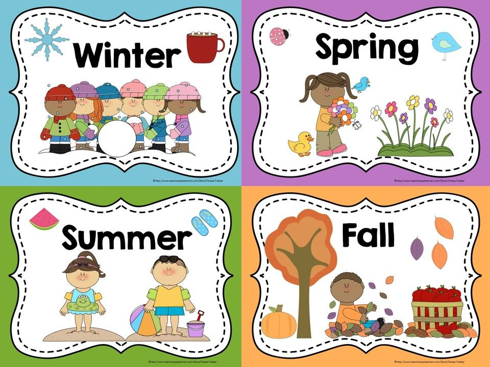 Season clipart kindergarten. Display these free posters