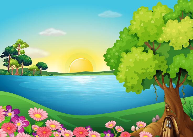 Season clipart scenery. Best cartoon landscape