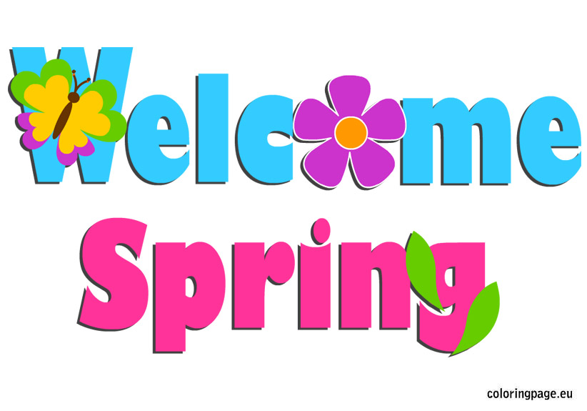 Season clipart welcome. Spring pencil and in