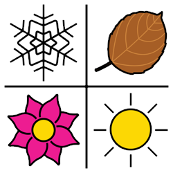 Seasons clipart circle. Board amp weather coughdrop