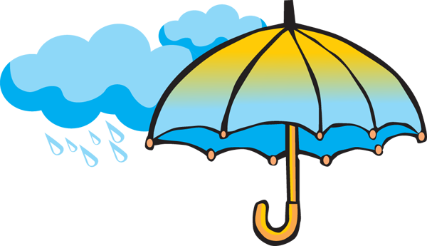 The end clipart capable. Free rainy day image