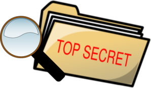 Top secret folder and. Spy clipart image free