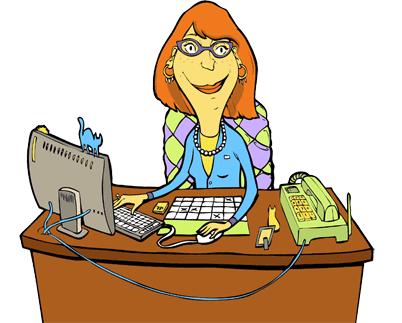 Secretary drawing phone clipart. Free busy cliparts download