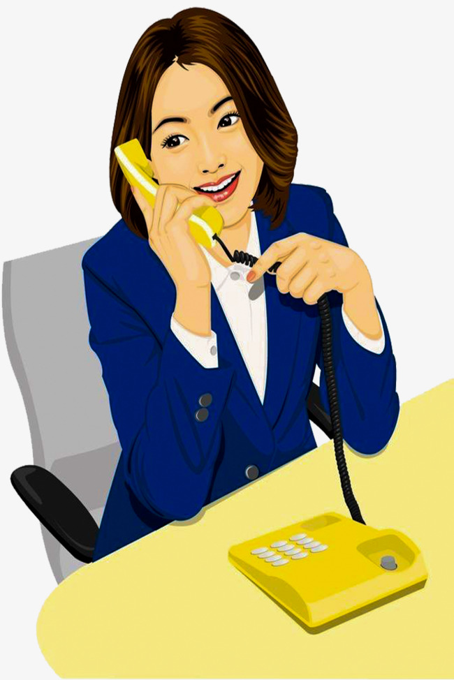 secretary clipart business phone call