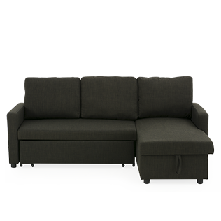 Sectional couch png. Linen reversible sofa bed