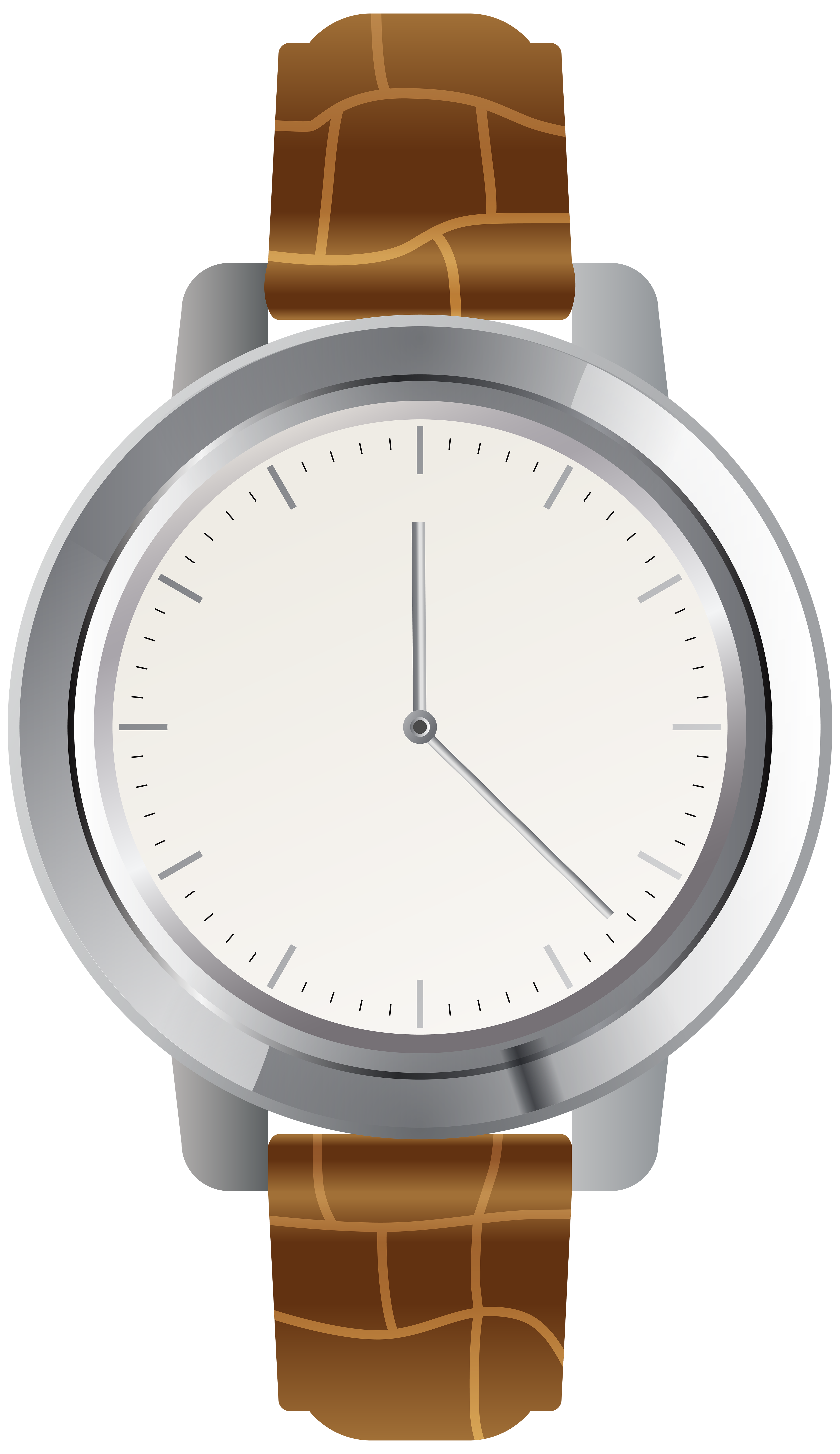 Watch clipart. Brown wrist png clip