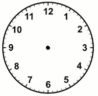 See clipart clock without hand. Faces hands free winning