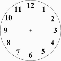 See clipart clock without hand. Printable templates blank clockface