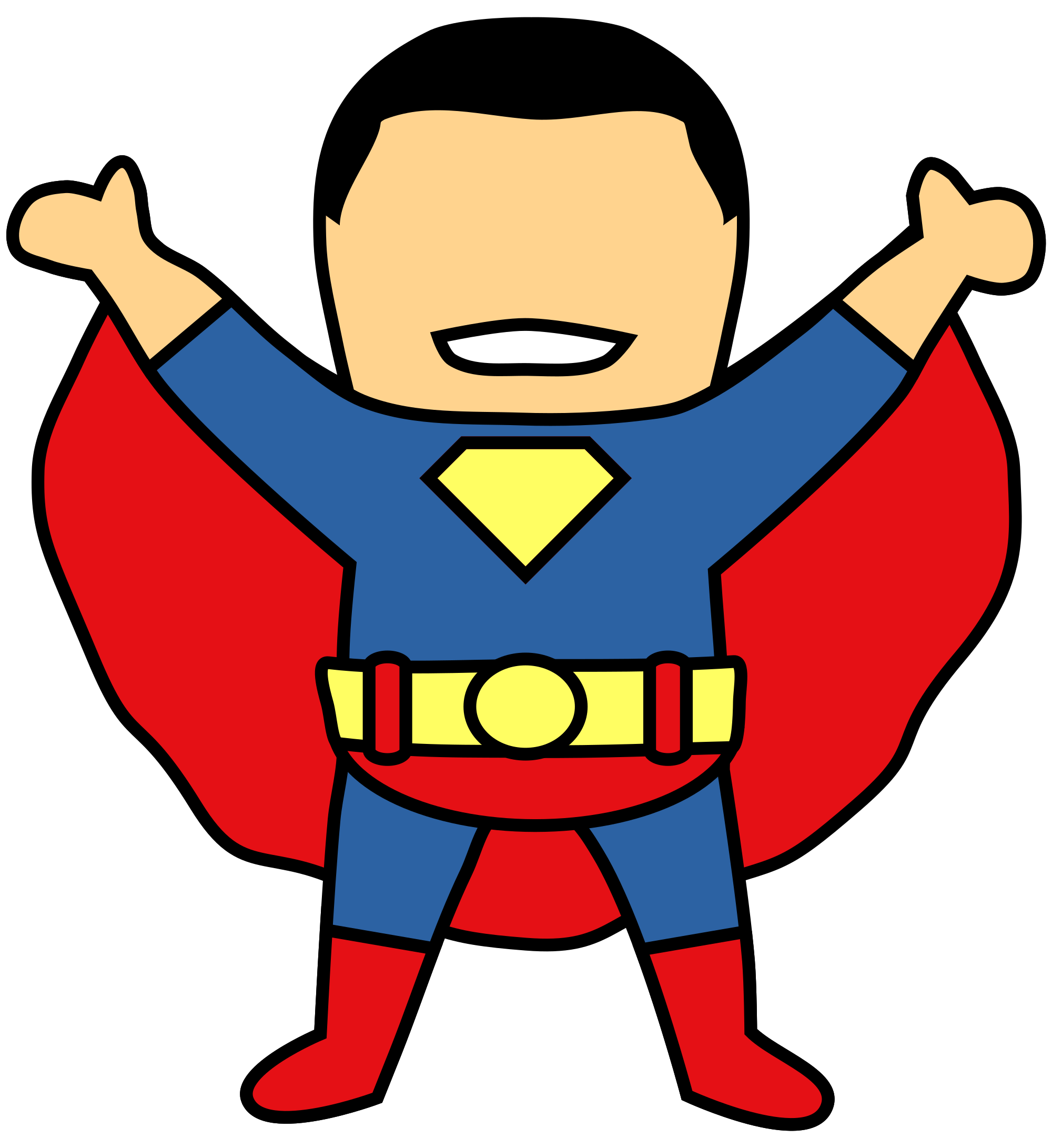 See clipart svg. File superman wikimedia commons