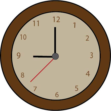 See clipart wall watch. Illustrator clock outlook this