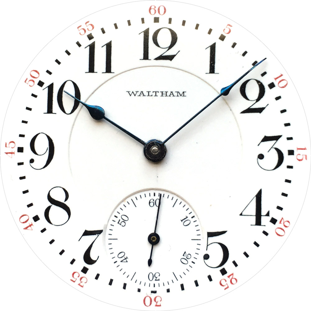 See clipart watch dial. American waltham co pocket