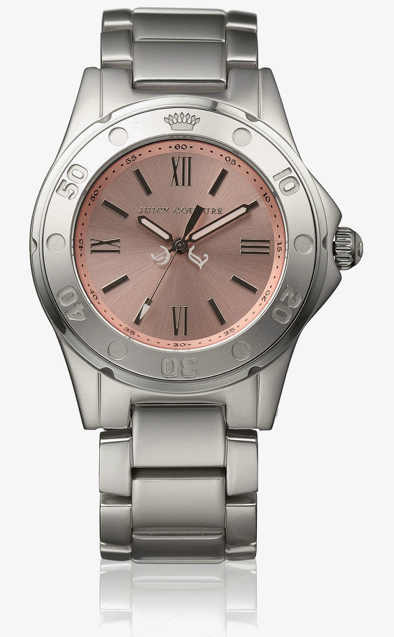 See clipart watch dial. White steel pink watches