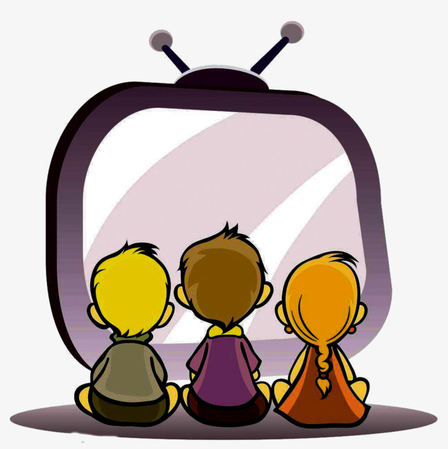The children watch tv. Watching clipart png library