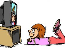 see clipart watch tv