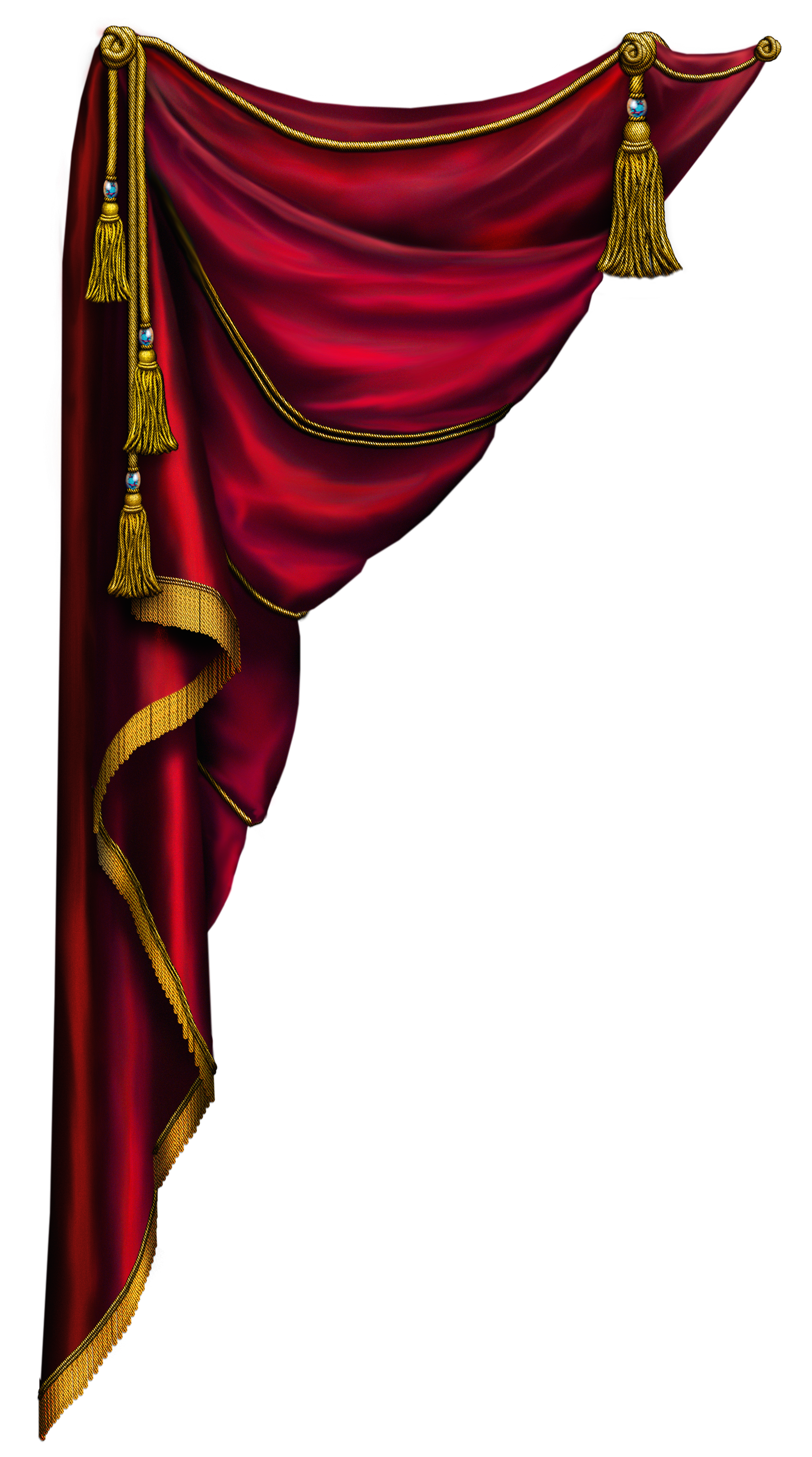 Pins vector red. Curtain left miscellaneous images