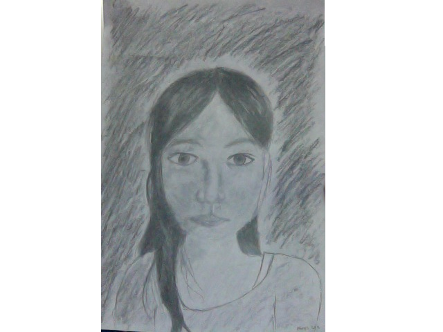 Self drawing. A portrait of my