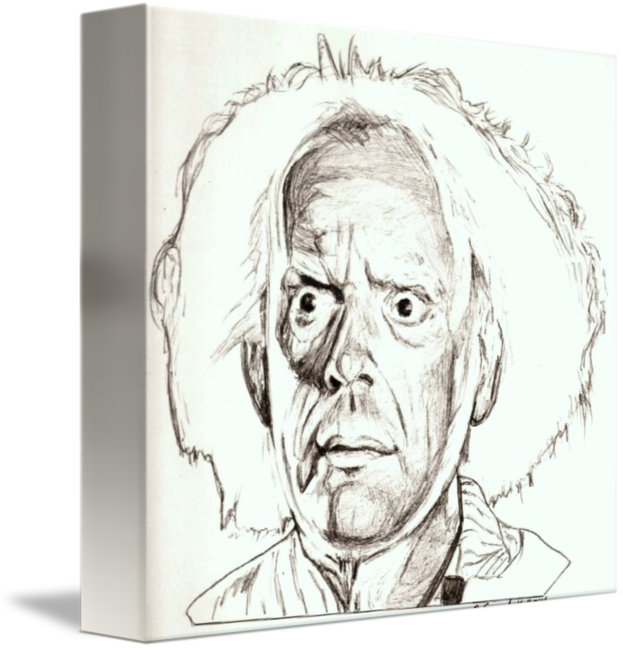 Self drawing art. Christopher lloyd by rob