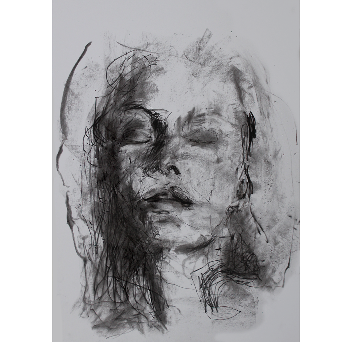 Self drawing charcoal. Works on behance art